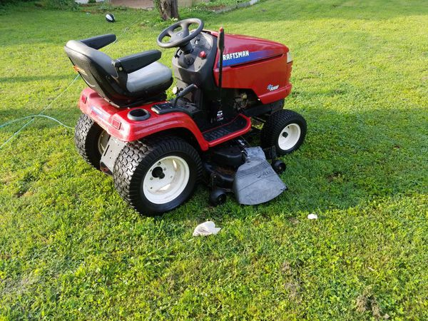 Craftsman Gt5000 Riding Mower With Wagon And Digger For