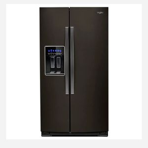 Whirlpool 28 cu. ft. Side by Side Refrigerator in Fingerprint Resistant Black Stainless for Sale in Houston, TX