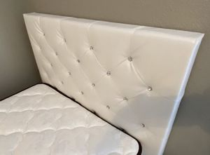 2 Twins White Bed Frame. MATTRESS NOT INCLUDED. Same day delivery 🚚 for Sale in Houston, TX