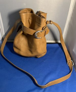 Vintage COACH Legacy Brown Soho 4156 Classic Genuine Leather Small Belted Pouch Bucket Crossbody Messenger Shoulder Bag Purse for Sale in Lauderhill, FL