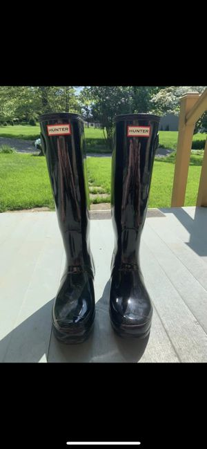 Size 10- women's tall Hunter boots- black for Sale in Sewickley, PA
