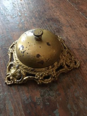 Antique Hotel Desk, Department Store Service Bell, Cask Base, Very Cool for Sale in Antioch, IL