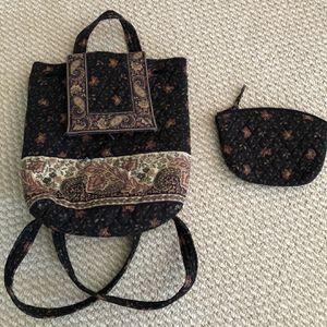 Vera Bradley backpack & make-up bag~mint for Sale in Boxborough, MA