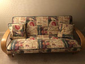 Full Size Futon Sofa Bed + 1 Mattress + 2 Pillows for Sale in Ashburn, VA