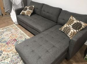 Brand New Grey Linen Sectional Sofa Couch for Sale in Washington, DC