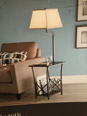 Magazine rack end table lamp for Sale in Lodi, CA