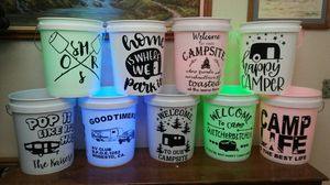 Camping/ Fire pit/ outdoor light up Buckets for Sale in Modesto, CA
