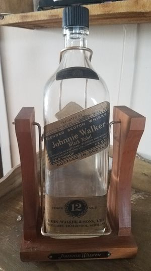 Johnnie Walker 1/2 Gallon Bottle On Stand..Vintage..Antique for Sale in Wylie, TX