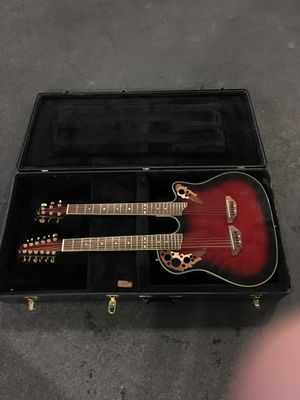 Ovation celebrity collection cse225-RRB double neck for Sale in Wenatchee, WA