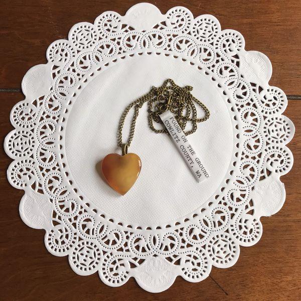 Carnelian Agate Heart Necklace