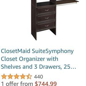 Closetmaid Orginizer 84Hx65W for Sale in Olympia, WA