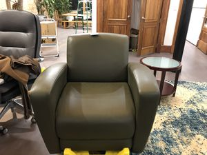 Leather chairs green for Sale in Chicago, IL