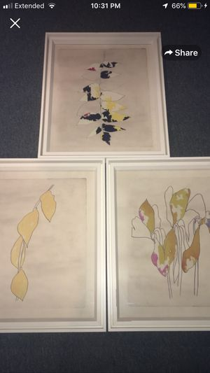 Richard Mishaan, MoMa Series Print Abstract Art framed 3 set total for Sale in Rochester, MI