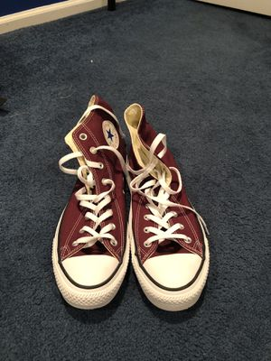 Maroon Converse high tops for Sale in Jackson Township, NJ