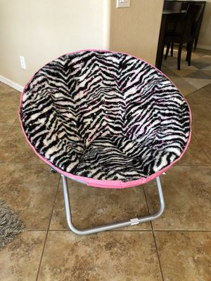 Justice zebra and pink chair for Sale in Phoenix, AZ
