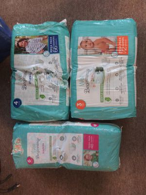Diapers sizes 3 4 and 6 for Sale in North Providence, RI