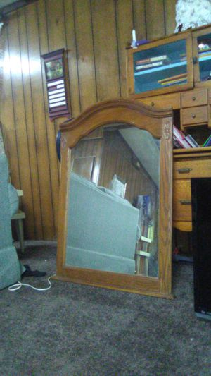 Antique mirror solid wood for Sale in Fresno, CA