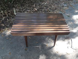 Mid Century slat bench table for Sale in Tampa, FL
