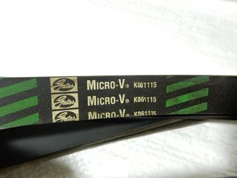 K061115 Serpentine Belt Gates Micro-V fits Buick GMC Ford Pontiac Oldsmobile older models for Sale in Lakeland,  FL