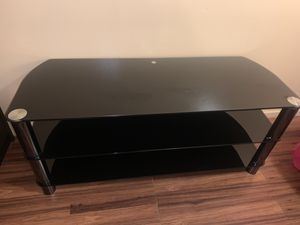 Tv stand with glass for Sale in Palo Alto, CA