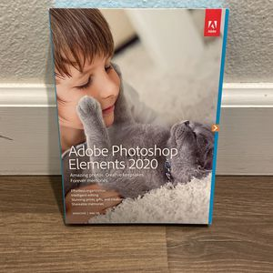 New Sealed Adobe Photoshop Elements 2020 - PC/Mac Disc Version for Sale in Torrance, CA