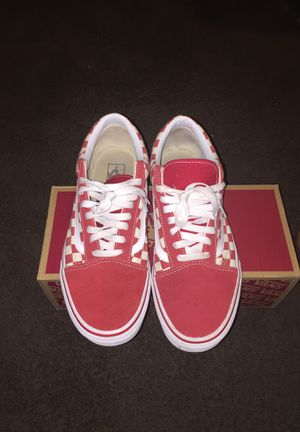 Red Checkered Vans for Sale in Columbus, OH