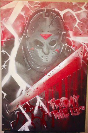 Friday The 13th Canvas Painting for Sale in Austin, TX