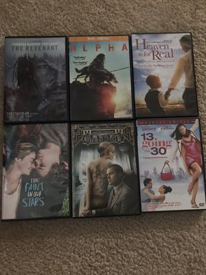 6 movies for 10 for Sale in Raleigh, NC