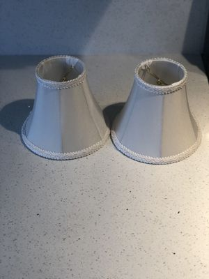 2 Mini white lamp shades for Sale in North Las Vegas, NV