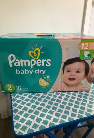 Diapers: Pampers Baby Dry 112 count size 2. New box for Sale in Spring, TX