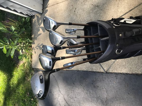 Golf Club Set and Bag and Hard Travel Case