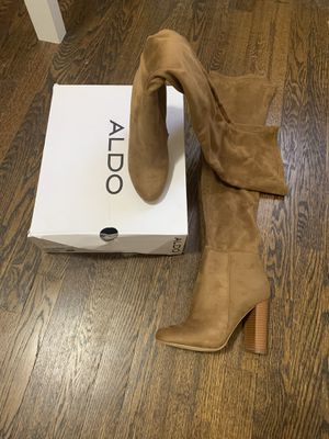 Knee High Beige Aldo Heel Boots for Sale in Elizabeth, NJ
