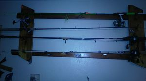 Handmade 4 or six fishing pole holder for Sale in Austin, TX