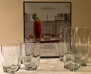 New Ridley 12pc Glass Tumblers from Threshold for Sale in Bowie, MD