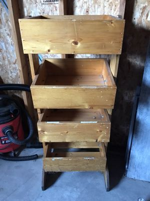 Wooden storage stand for Sale in Minneapolis, MN