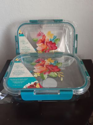 2 pioneer woman food storage containers for Sale in Ocala, FL