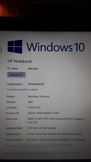 HP Notebook Laptop for Sale in Aurora, OR