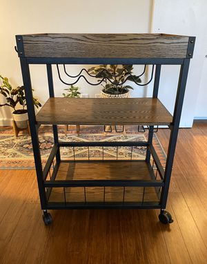 Rustic Industrial Bar Cart for Sale in Los Angeles, CA