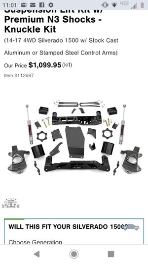 2014-2018 silverado knuckle lift kit for Sale in Oregon City, OR