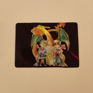 Pokemon Blue And Red Version Art On A Pokémon Card Holographic CUSTOM for Sale in Fairfield Bay, AR