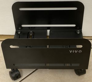 VIVO Black Computer Tower Desktop Steel Rolling Stand for Sale in Miami Shores, FL