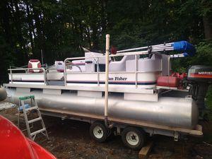 1989 16ft pontoon sun cruiser/ fish cruiser for Sale in Cumming, GA