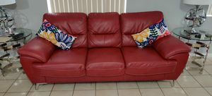 Red sofa 2 PC both $ 400 obo for Sale in Hialeah, FL
