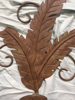 Metal palm leaf wall decor single sconce for Sale in Fresno,  CA
