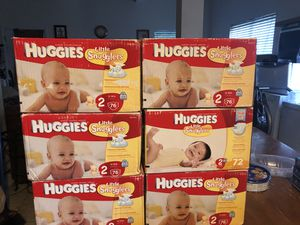 6 Huggies Diapers (Size 2, 76 ct each) for Sale in Fort Mill, SC