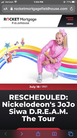Jojo Siwa concert for Sale in North Ridgeville, OH