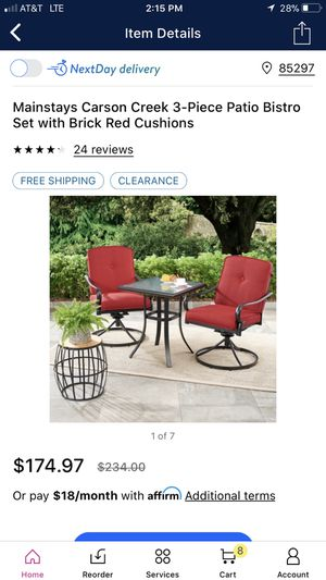 Brand new mainstay patio furniture set for Sale in Gilbert, AZ