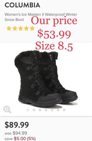 Women's Columbia Ice Madian Snow Boots 8.5 for Sale in Pinebluff, NC