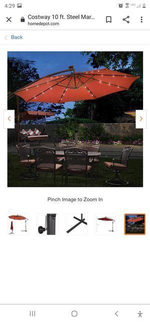 New 10ft Steel hanging solar patio umbrella #2left for Sale in Bakersfield, CA