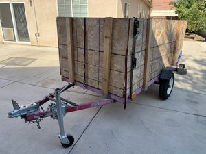 Utility trailer 4x8 ft $500 for Sale in Rancho Cucamonga, CA